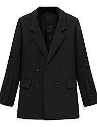 hesapli -Kadın's Gömlek Yaka Ceket Suits Solid