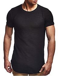 economico -T-shirt Per uomo Collage, Tinta unita