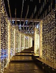 رخيصةأون -3M أضواء سلسلة 300 المصابيح تراجع LED أبيض دافئ / أبيض / أزرق ضد الماء / حزب / ديكور 220-240 V 1PC