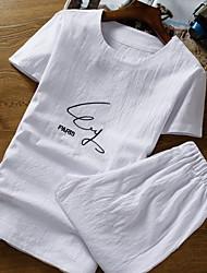 abordables -Tee-shirt Homme, Géométrique Col Arrondi