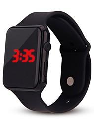 Недорогие -Для пары электронные часы Цифровой силиконовый Черный / Белый / Синий Календарь Творчество Новый дизайн Цифровой На каждый день - Оранжевый Розовый Светло-синий