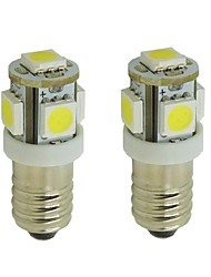 2pcs E10 Car Light Bulbs 2 W SMD 5050 85 Lm 5 LED Interior Lights For  Universal General Motors All Years