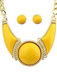 638a33bfbe9b abordables -Mujer Geométrico Artesano Conjunto de joyas Elegante
