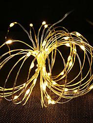abordables -1m Guirlandes Lumineuses 10 LED Blanc Chaud / Plusieurs Couleurs Décorative / Décoration de mariage de Noël 5 V 1 set