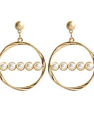 olcso -Női Beszúrós fülbevalók Függők Francia kapcsos fülbevalók Fülbevaló Geometrijski oblici Klasszikus Ékszerek Arany Kompatibilitás Napi Előírásos 1 pár