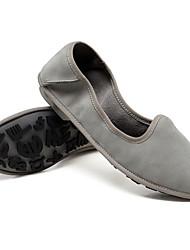 저렴한 -여성용 구두 내파 가죽 여름 플랫 낮은 굽 일상 용 그레이 / 브라운