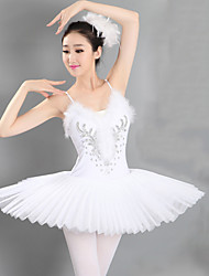 cheap -Ballet Dresses / Tutus & Skirts Women's Training / Performance Polyester / Mesh Feathers / Fur / Crystals / Rhinestones / Paillette Sleeveless Dress