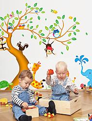 tanie -Dekoracyjne naklejki ścienne - Naklejki naścienne ze zwierzętami Zwierzęta / Kwiatowy / Roślinny Salon / Sypialnia / Kuchnia
