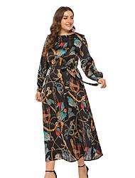 זול -מידי גיאומטרי - שמלה נדן בסיסי בגדי ריקוד נשים