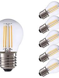 levne -GMY® 6ks 3.5 W 350 lm E26 / E27 LED žárovky s vláknem P45 4 LED korálky COB Ozdobné Teplá bílá 220-240 V / RoHs