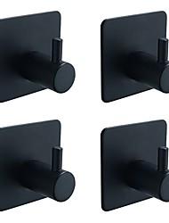 Недорогие -Крючок для халата Самоклеющиеся Современный / Античный Нержавеющая сталь 4шт - Ванная комната полотенце На стену
