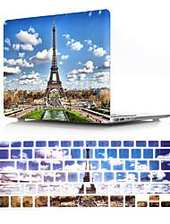 Недорогие -защитная крышка для Эйфелевой башни для MacBook Pro Retina 11/12/13/15 дюймов чехол из ПВХ жесткий корпус и клавиатура мембрана us english