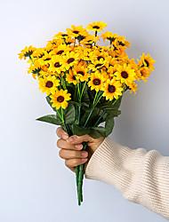 Χαμηλού Κόστους -Ψεύτικα λουλούδια 5 Κλαδί Κλασσικό Γάμος Λουλούδια Γάμου Ηλιοτρόπια Αιώνια Λουλούδια Λουλούδι για Τραπέζι
