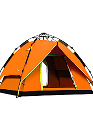 cheap -4 person Family Tent Outdoor Windproof Rain Waterproof Breathability Double Layered Automatic Camping Tent 2000-3000 mm for Camping / Hiking / Caving Glass fiber Oxford Cloth 215*215*145 cm