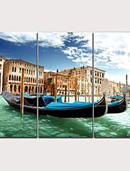 abordables -Imprimé Impression sur Toile - Photographie Moderne Moderne Trois Panneaux