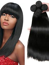 Недорогие -4 Связки Бразильские волосы Прямой человеческие волосы Remy Человека ткет Волосы Пучок волос One Pack Solution 8-28 дюймовый Естественный цвет Ткет человеческих волос Мягкость Лучшее качество Толстые