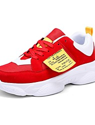cheap -Men's Light Soles Synthetics Spring & Summer Sporty / Preppy Athletic Shoes Running Shoes Massage White / Black / Red