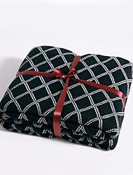 levne -Multifunkční deky, Jednoduchý / Kostkovaný / Klasický Úplet / Bavlna Ohřívač Třásně Měkký povrch přikrývky