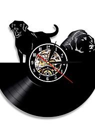 Недорогие -1шт собака виниловые пластинки настенные часы животное ретро современный подарок ручной работы