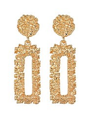 tanie -Damskie Geometryczny Kolczyki drop Kolczyki Europejskie Modny Nowoczesny Biżuteria Złoty / Srebrny / Różowe złoto Na Karnawał Praca Bar 1 para