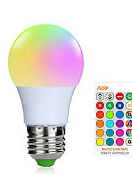Недорогие -1шт 3 W Умная LED лампа 200-250 lm E26 / E27 1 Светодиодные бусины SMD 5050 Smart Диммируемая На пульте управления RGBW 85-265 V / RoHs / FCC