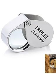ieftine -portabil lupă pliabilă 30x 30x21mm loupe lupă magnificare triplet bijutieri ochi de sticlă bijuterii diamant