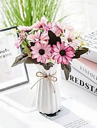 levne -Umělé květiny 2 Větev Klasické Jevištní doplňky Pastýřský Styl Sedmikrásky Věčné květy Květina na stůl