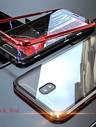Недорогие -Кейс для Назначение SSamsung Galaxy / Huawei J8 / J6 (2018) / J6 Plus Прозрачный Чехол Однотонный Твердый Закаленное стекло
