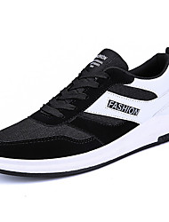 cheap -Men's Comfort Shoes Mesh Spring & Summer Sporty Athletic Shoes Running Shoes Breathable Black / Black and White / Black / Red