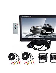 Недорогие -7 дюймовый TFT-LCD 420TVL 420 ТВ линий Датчик CMOS Проводное 130 градусов Камера заднего вида / Автомобильный реверсивный монитор Водонепроницаемый / Ночное видение / LCD экран для