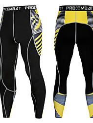 Недорогие -Основной слой Компрессионная одежда Нижняя часть Сжимающие штаны Муж. На открытом воздухе Велосипедный спорт / Велоспорт Катание вне трассы Велоспорт Воздухопроницаемость Сжатие видеоизображений Стреч