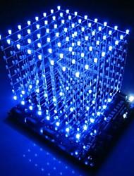 Недорогие -3d светодиодный куб 8x8x8 свет новинки печатная плата новинки новости синий квадрат diy kit 3 мм прямая поставка 2018 прямая поставка