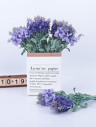 abordables -Fleurs artificielles 5 Une succursale Classique Accessoires de Scène Européen Lavande Fleurs éternelles Fleur de Table