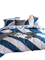 ieftine -Seturi Duvet Cover Lux / Dungi / Ripples / Contemporan Poliester Imprimat 4 PieseBedding Sets