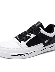 cheap -Men's Light Soles Synthetics Spring & Summer Casual / Preppy Sneakers Walking Shoes Wear Proof White / Black / Black and White