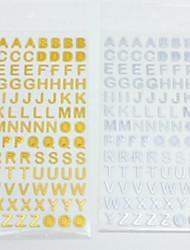 Недорогие -Золотой / Серебряный 1 ед. Наклейки и ленты 9.5*17.5 cm