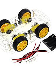 Недорогие -4 колеса умный автомобиль шасси сделай сам комплект код скорость колеса отслеживания Bluetooth пульт дистанционного управления автомобильные аксессуары