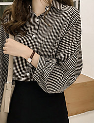 voordelige -Dames Patchwork Overhemd Effen