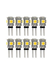 abordables -10pcs 2 W 100 lm G4 LED à Double Broches T 5 Perles LED SMD 5050 Adorable Blanc Chaud / Blanc Froid 12 V