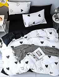 abordables -Ensembles housse de couette Luxe / Bande dessinée / Moderne Polyester Imprimé 4 PiècesBedding Sets