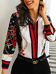 preiswerte -Damen Einfarbig Hemd