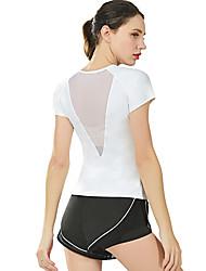 お買い得  -スポーツダンスウェア トップス / ヨガ 女性用 訓練 / 性能 ナイロン / エラステイン コンビ 半袖 上着