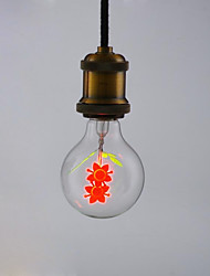 זול -1pc 2 W 100-160 lm E26 / E27 נורות גלוב לד G80 1 LED חרוזים להבות מהבהבות 220-240 V