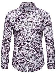 abordables -Hombre Estampado Camisa Gráfico Arco Iris XL