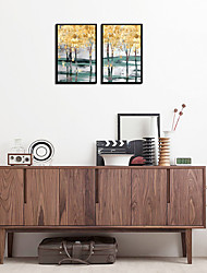 cheap -Framed Set - Abstract Aluminum Alloy Oil Painting Wall Art