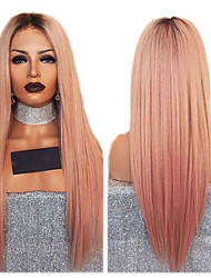 cheap -Synthetic Wig kinky Straight Style Middle Part Capless Wig Ombre Orange Synthetic Hair 26 inch Women's Women Ombre Wig Long Natural Wigs