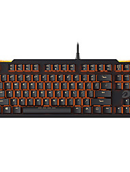 levne -dareu ek815 usb drátová mechanická klávesnice mechanická svítící oranžová podsvícená 87 ks klíčů