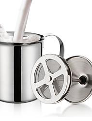 Недорогие -двойная сетка молочник из нержавеющей стали вспениватель молока для капучино молочные кувшины яйцо колотушки кухонный инструмент гаджеты