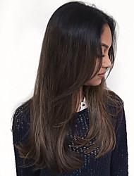Χαμηλού Κόστους -Αξεσουάρ Στολών / Συνθετικές Περούκες Ίσιο / Κατσαρά Ίσια Στυλ Ασύμμετρο κούρεμα Χωρίς κάλυμμα Περούκα Σκούρο Καφέ Μαύρο / καφέ Συνθετικά μαλλιά 24 inch Γυναικεία / Μαλλιά με ανταύγειες