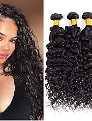 voordelige -3 bundels Braziliaans haar Watergolf Mensen Remy Haar Menselijk haar weeft Bundle Hair Extentions van mensenhaar 8-28 inch(es) Natuurlijke Kleur Menselijk haar weeft Modieus Design Geschenk Creatief